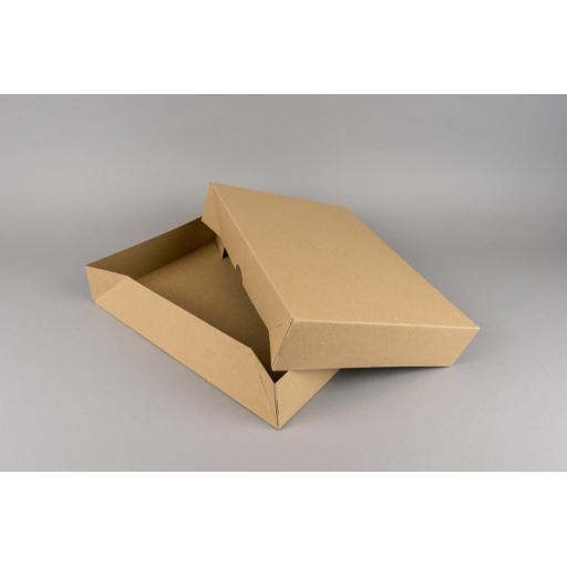 A4 Brown Box & Lid 302x212x55mm