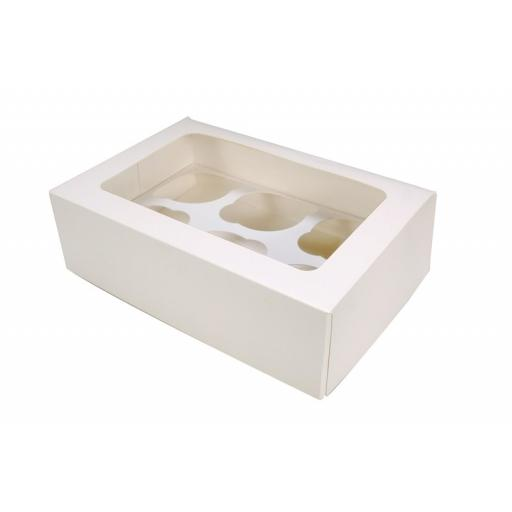 6 Cupcake Box with Window and Insert