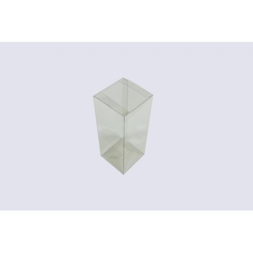 Flat Folding Clear PVC Box 80x80x200mm