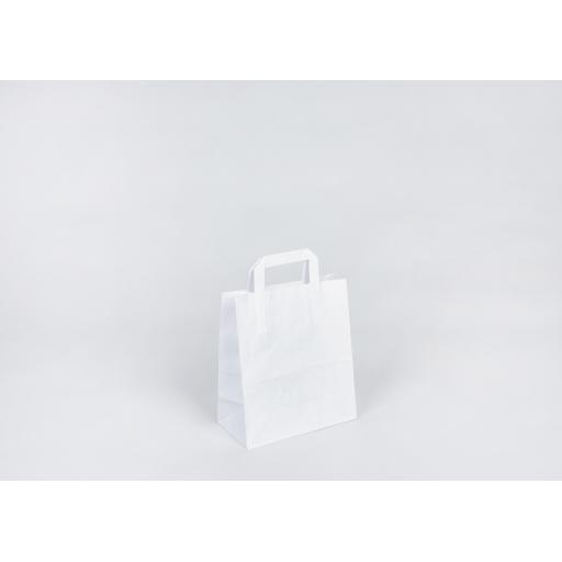 White Carrier with Flat Handle 220 x 255 x 110mm