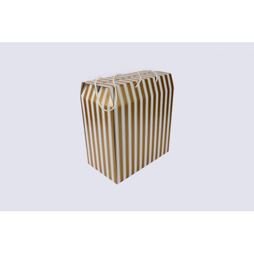Cord Carry-Handle Box 350 x 190 x 375mm Gold and White