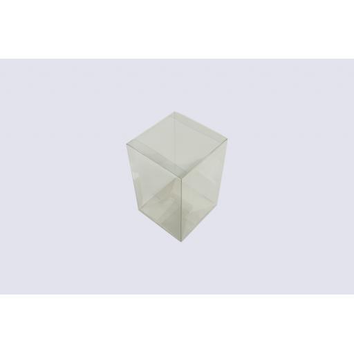 Flat Folding Clear PVC Box 130x130x200mm