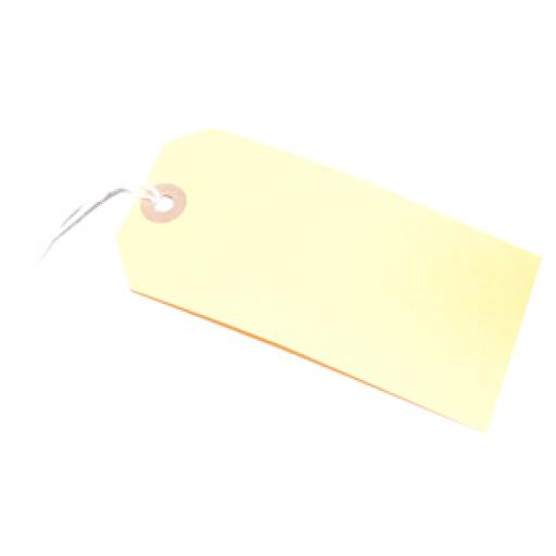 Yellow Tag with Hole & String 120x60mm