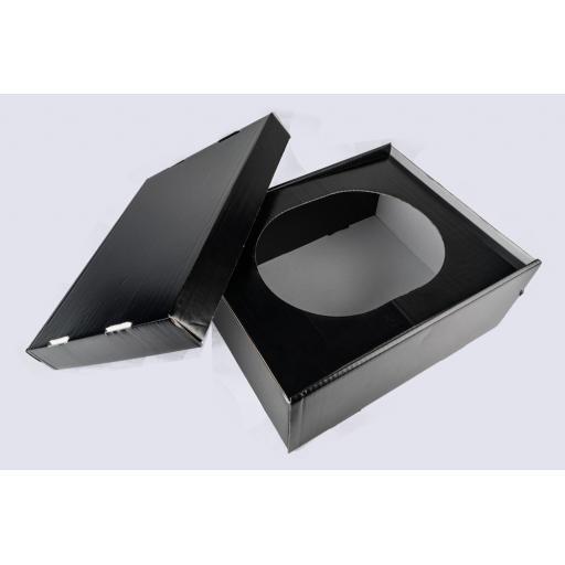 Trilby Box 390x305x164mm Black