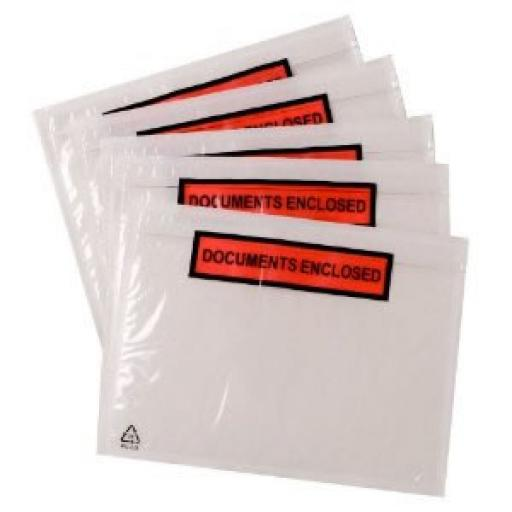 Self Adhesive Document Enclosed Wallets