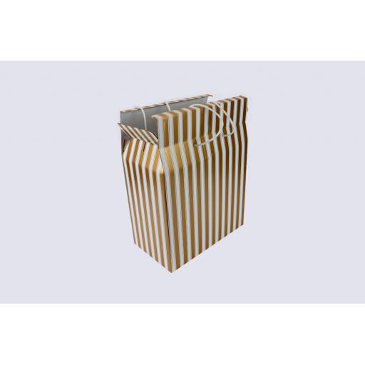 Cord Carry-Handle Box 400 x 195 x 500mm Gold and White