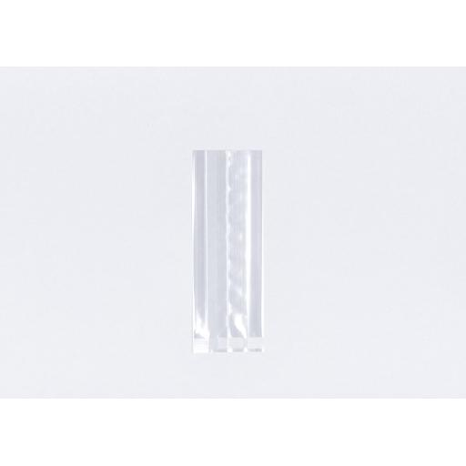 Clear Cellophane Gusseted Bags 70 x 100 x 180mm
