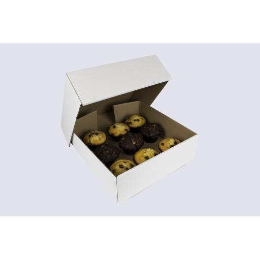 12 Inch Corrugated Cake Box - 4 Inches Tall