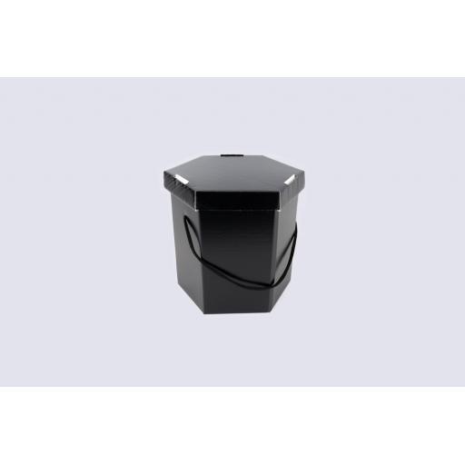 """Hat Box 9 x 10"""" (216 x 254mm) Black"""