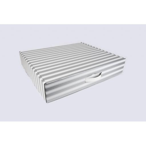 Gift Box 510 x 432 x 100mm Silver and White