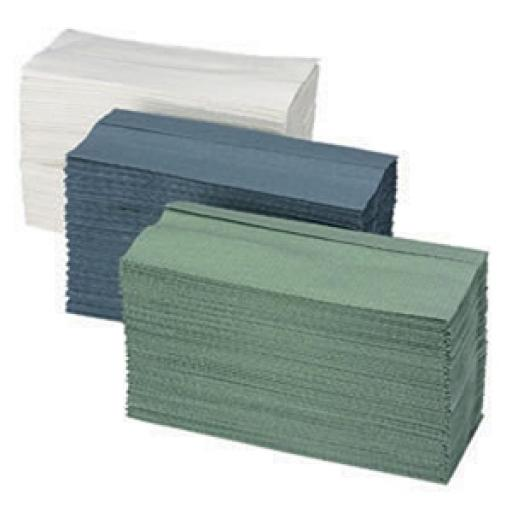 C Fold Hand Towels 1 Ply 330 x 230mm - green- 2730 sheets