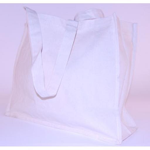 Natural Canvas Shoulder Bag 400x140x340mm