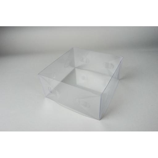 Flat Folding Clear PVC Box 178x178x89mm