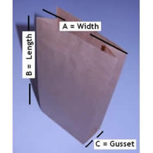 Block Bottom Paper Bags - Brown 150 x 215 x 310mm
