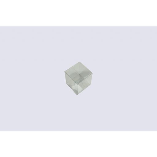Flat Folding Clear PVC Box 80x80x90mm