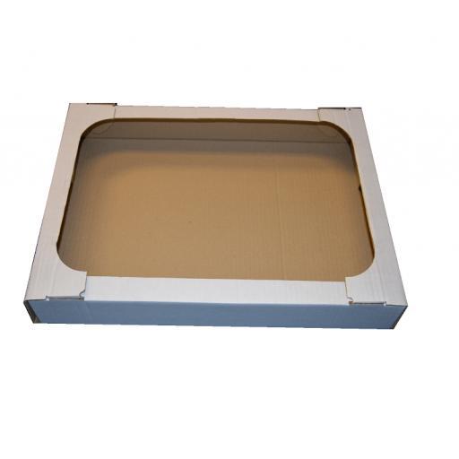 White Corrugated Tray 445x332x75mm