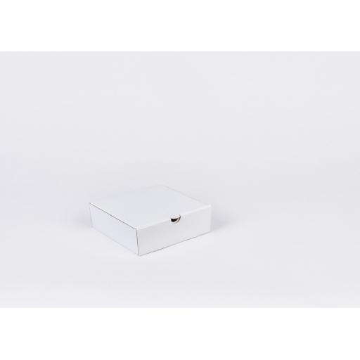 White Corrugated Box 145 x 145 x 48 mm