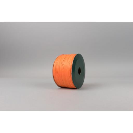 Orange Raffia Ribbon 100m