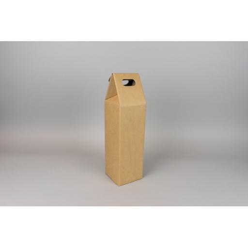 Bottle Box Kraft 95x95x265 mm (360mm total height)