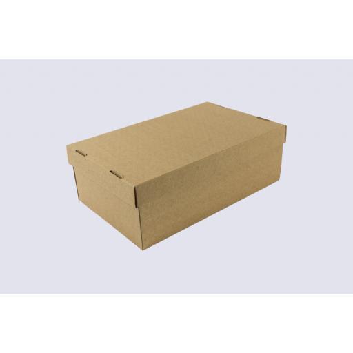 Corrugated Shoe Box & Lid 296 x 184 x 102mm