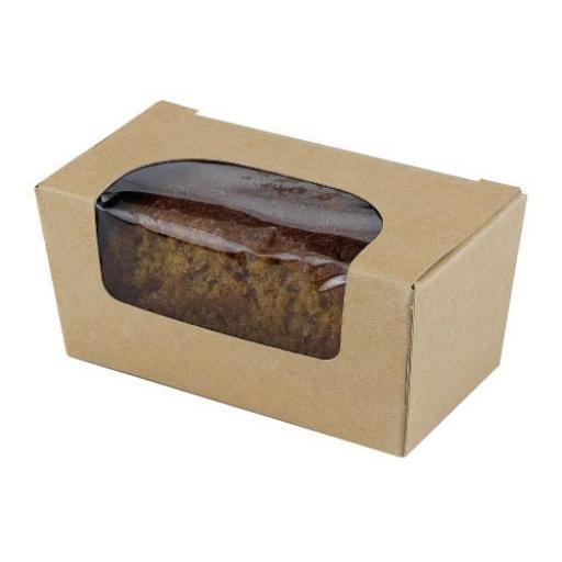 Mini Kraft Cake Box + Window 95x50x40mm