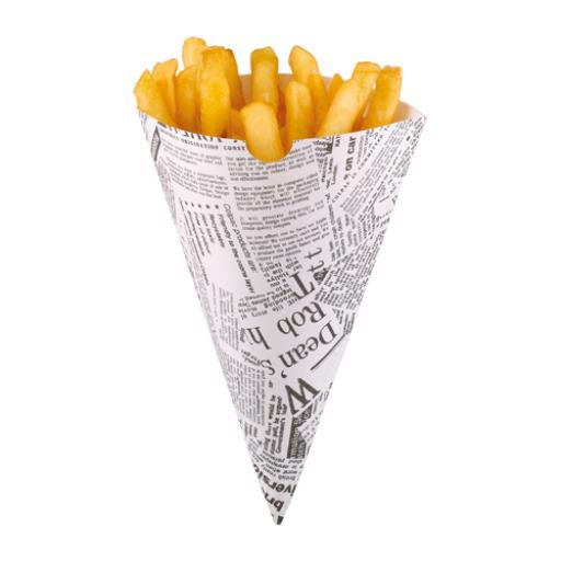 Newsprint Paper Cone for Food