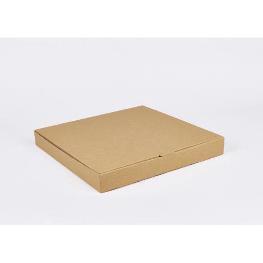 Brown 14 Inch Pizza Box
