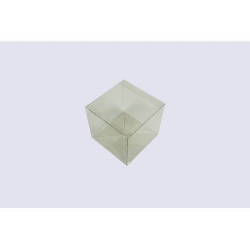 Flat Folding Clear PVC Box 130x130x120mm