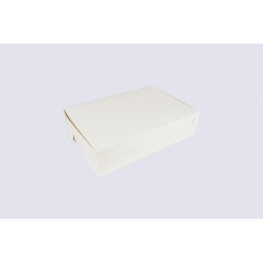 """Cake Box Hinged Lid 258 x 184 x 64mm (10 x 7 x 2.5"""")"""