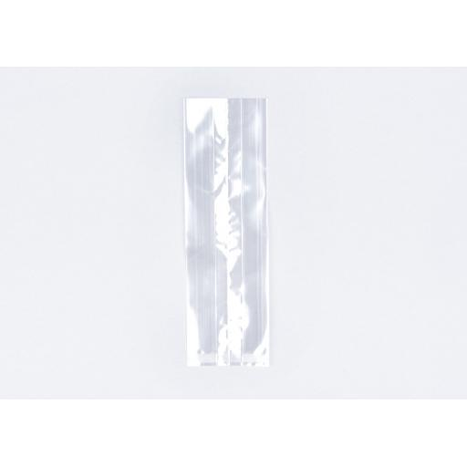 Clear Cellophane Gusseted Bags 90 x 150 x 280mm