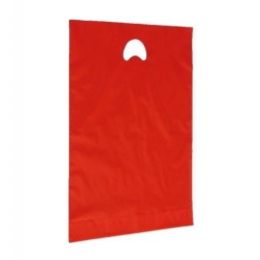 Red Polythene Carrier 381 x 457 + 76mm