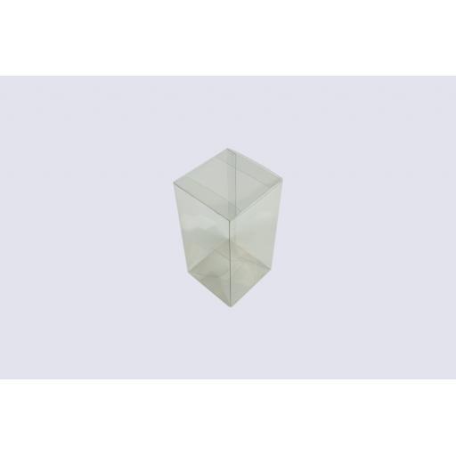 Flat Folding Clear PVC Box 89x89x179mm