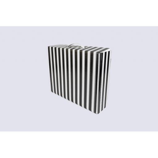 Premium Gift Box with flat handle 355 x 296 x 95mm Black and White