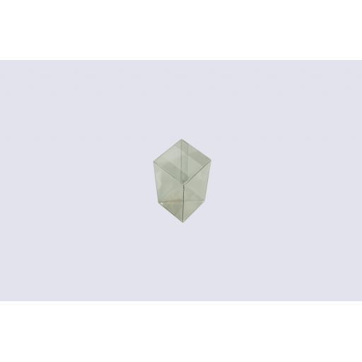 Flat Folding Clear PVC Box 60x60x120mm