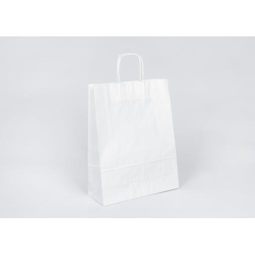 White Carrier + Twisted Handle 320x420+120mm