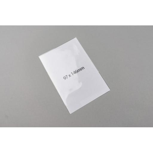 Clear Polypropylene Bags 97 x 146mm