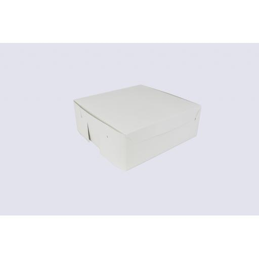8 Inch Cake Box with Hinged Lid - 3 Inches Tall