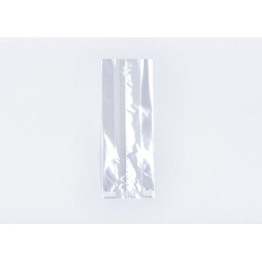 Clear Cellophane Gusseted Bags 120 x 180 x 305mm