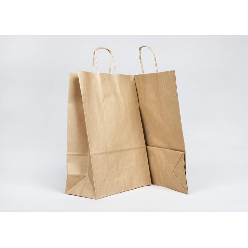 Brown Carrier + Twisted Handle 240x310+110mm