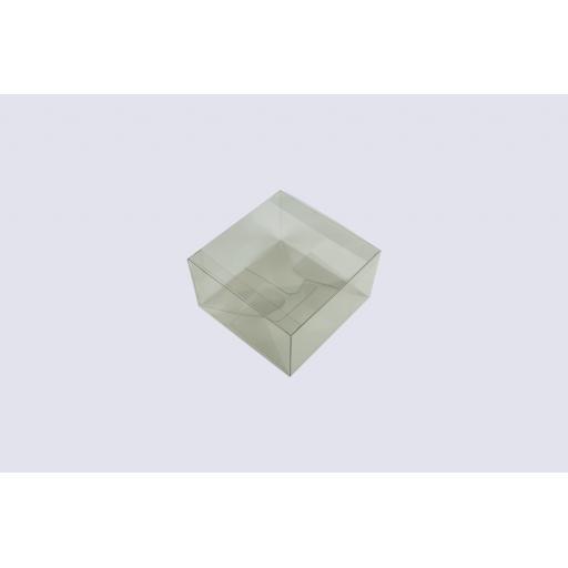 Flat Folding Clear PVC Box 120x120x70mm