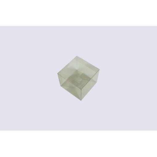 Flat Folding Clear PVC Box 100x100x80mm