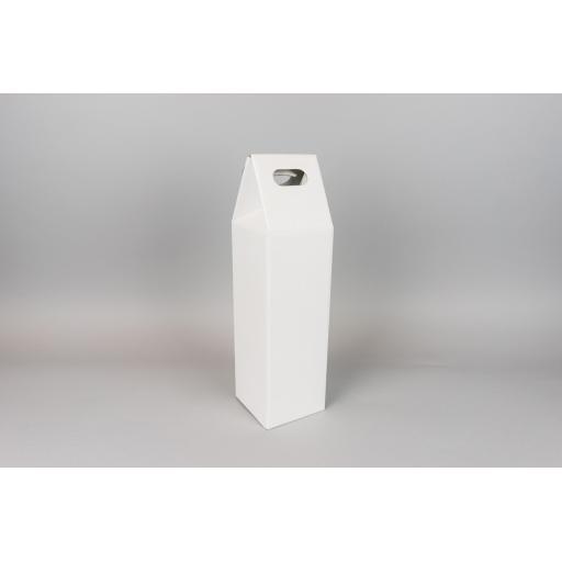 Bottle Box White 95x95x265 mm