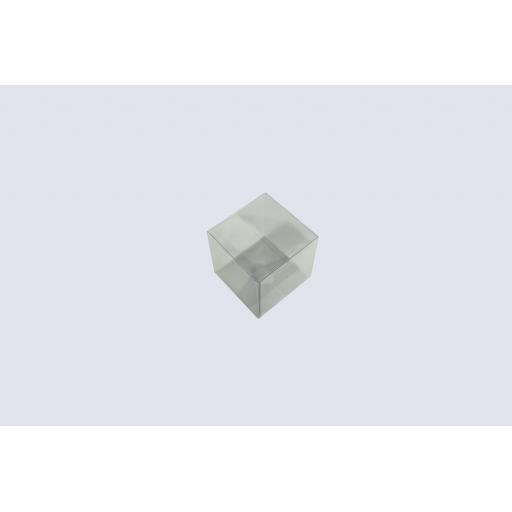 Flat Folding Clear PVC Box 90x90x90mm