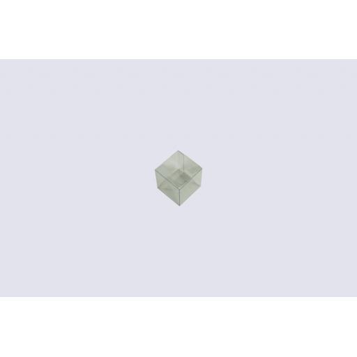 Flat Folding Clear PVC Box 60x60x60mm