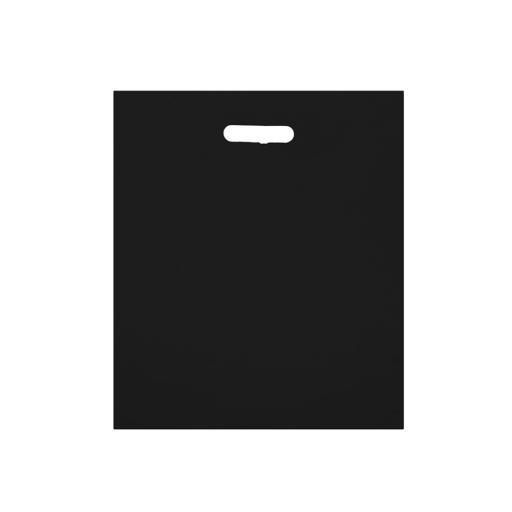 Black Polythene Carrier 203x305mm