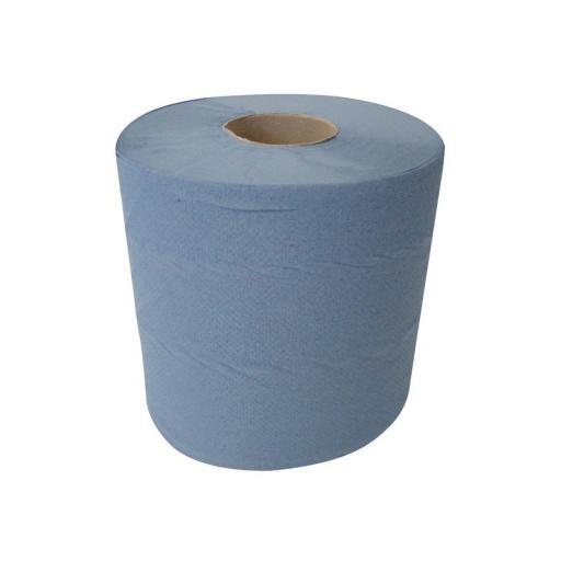 Centrepull Blue 2ply 195mm x 150m - Pack Of Six Rolls
