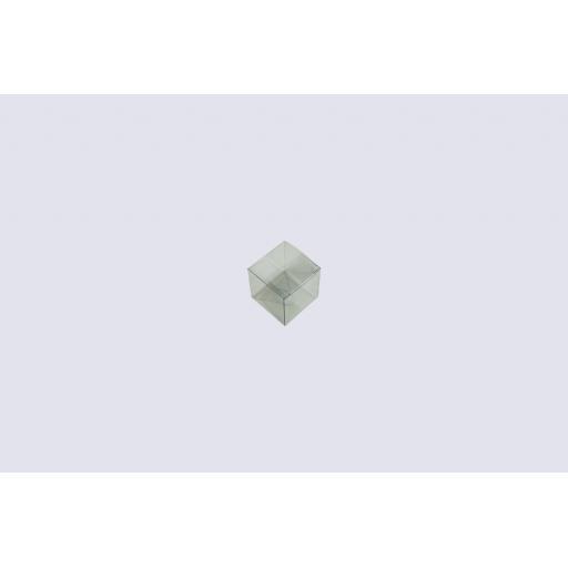 Flat Folding Clear PVC Box 50x50x50mm