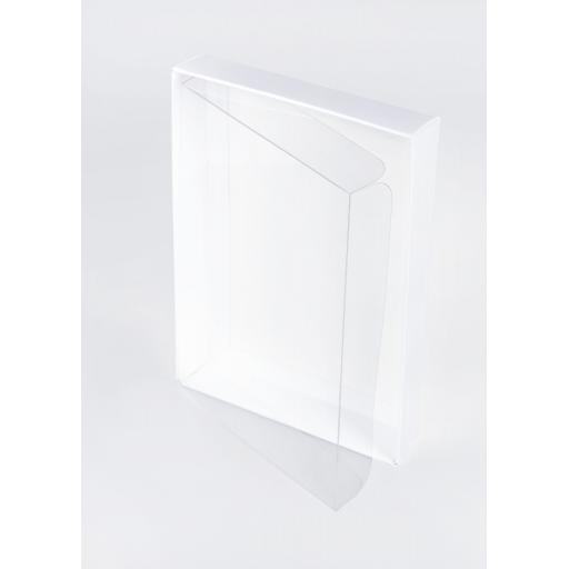A4 White Base & Clear Lid - 326 x 227 x 43mm