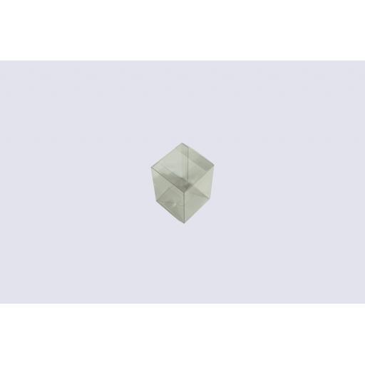 Flat Folding Clear PVC Box 70x70x100mm