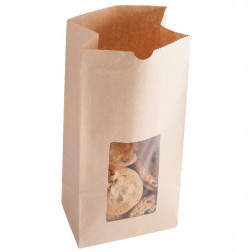 Brown Bag + Window 210x80x50mm